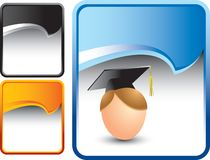 Graduate on blue rip curl background Royalty Free Stock Photography