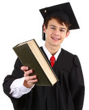 Graduate with a book Stock Photo