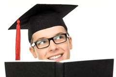 Graduate with book Stock Photos