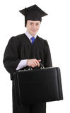 Graduate with a breifcase Stock Image