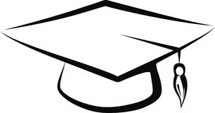 Graduate cap Royalty Free Stock Photos