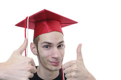 Graduate with Cap and Gown Royalty Free Stock Photos
