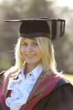 Graduate in cap and gown, Wessex Institute of Technology, Ashurs Royalty Free Stock Photos