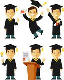 Graduate character set Stock Image