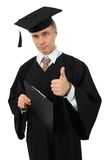Graduate with Clipboard Stock Photography