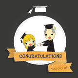 Graduate and congratuations Royalty Free Stock Photography