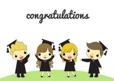 Graduate and congratulation isolate Stock Photo