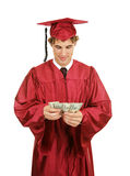 Graduate Counting Money stock image