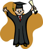 Graduate with diploma vector illustration Royalty Free Stock Images