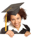 Graduate with display for text Royalty Free Stock Photography