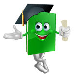 Graduate education book mascot Stock Photos
