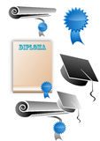 Graduate elements, icons Stock Image