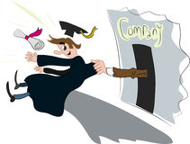 Graduate entrants. Color  draw Royalty Free Stock Photo