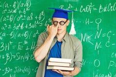 Graduate in eyeglasses Stock Images