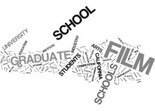 Graduate Film Schools Text Background  Word Cloud Concept. GRADUATE FILM SCHOOLS Text Background Word Cloud Concept Royalty Free Stock Photography