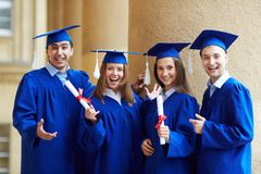Graduate friends Royalty Free Stock Photo
