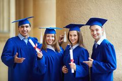 Graduate friends Royalty Free Stock Photography