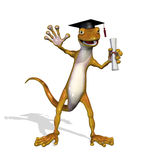Graduate Gecko Royalty Free Stock Photography