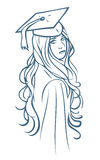 Graduate girl Stock Photo