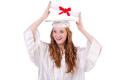 Graduate girl Royalty Free Stock Photo