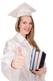 Graduate girl with diploma Royalty Free Stock Image