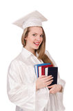 Graduate girl with diploma Royalty Free Stock Images