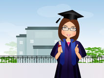 Graduate girl at school Stock Photo