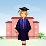 Graduate girl at school Stock Images