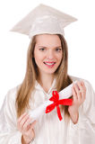 Graduate girl solated Royalty Free Stock Images