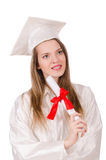 Graduate girl Royalty Free Stock Image
