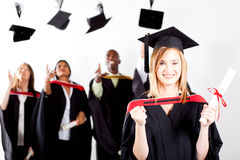Graduate at graduation Royalty Free Stock Images
