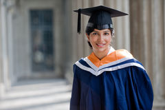 Graduate In Hallway Royalty Free Stock Photo