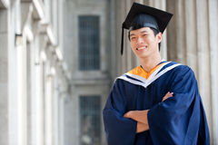 Graduate In Hallway Royalty Free Stock Images
