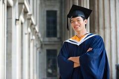 Graduate In Hallway Stock Image