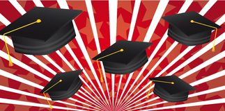 Graduate hat Royalty Free Stock Image