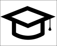 Graduate Hat Icon isolate Royalty Free Stock Photography