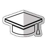 graduate hat isolated icon Royalty Free Stock Images