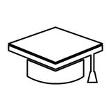 graduate hat isolated icon Royalty Free Stock Image