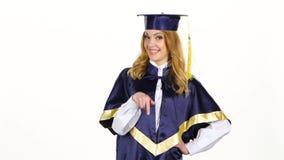 Graduate high school. White stock video