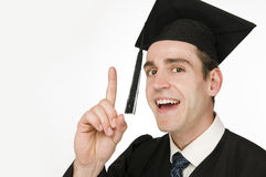 Graduate hint the finger Stock Photo