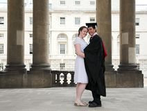 Graduate and his partner Royalty Free Stock Image