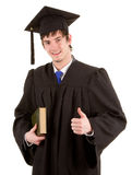 Graduate holding a book Royalty Free Stock Photography