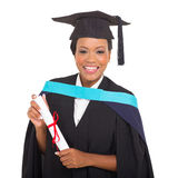 graduate holding certificate Royalty Free Stock Photos