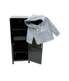 Graduate hoodie on locker Stock Photography