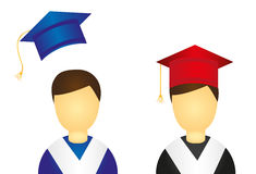Graduate icons Royalty Free Stock Image