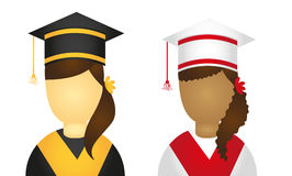Graduate icons Stock Images