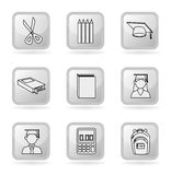 Graduate icons Royalty Free Stock Photography