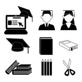 Graduate icons Royalty Free Stock Photos