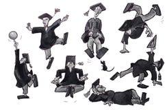 Graduate illustration set Stock Photography