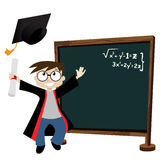 Graduate In Classroom Stock Photo